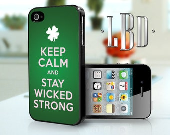 iPhone 4 4s Case - Keep Calm Wicked Strong Cover iP4