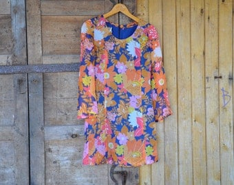 Vintage summer dress with flowers
