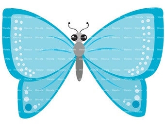 blue butterflies clip art digital clipart - butterfly clip art - butterfly graphics - butterfly digital - Personal and Commercial Use