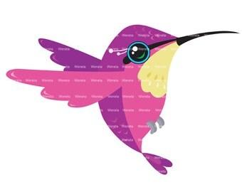 Hummingbird Clip Art - digital scrapbook clipart - scrapbook clipart - digital scrapbooking - Personal and Commercial Use