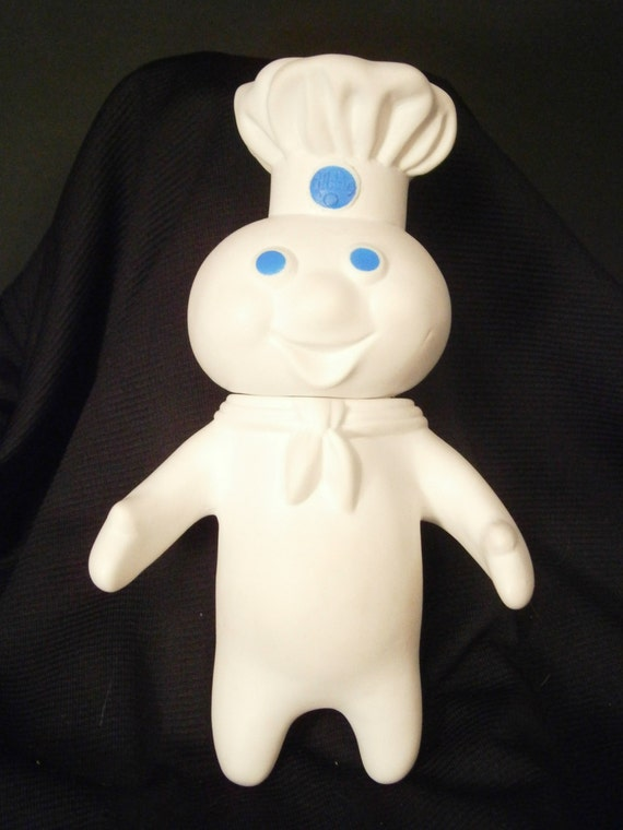 Pillsbury Doughboy Soft Vinyl Toy Doll Poppin Fresh 1971