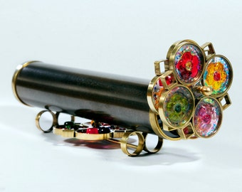 Giant Flower Extra wheel Kaleidoscope, Brass Kaleidoscope, Birthday gift idea