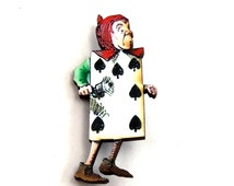 The Playing Card Alice in Wonderland Pin - A66