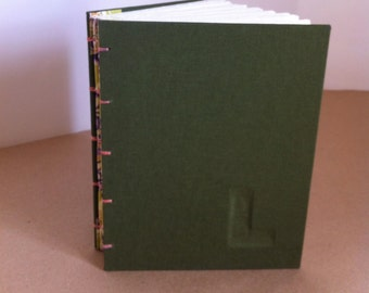 CUSTOM Hard Cover journal, coptic stitch, 128 blank pages (64 double sided) - Custom MADE to ORDER