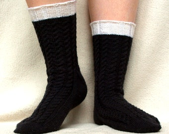 Irish Stout Socks - PDF knitting pattern