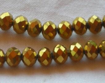 Swarovski crystals. Golden 8 mm (36)