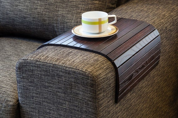 Sofa Tray Table Brown Wooden TV Tray Wooden Coffee Table Lap Desk
