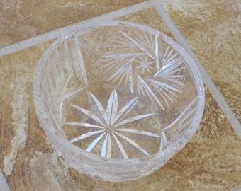 Sugar Bowl - Crystal - Vintage