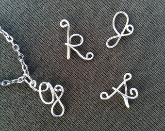 Custom Initial Letter Necklace Wire