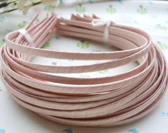 SALE--10 pcs  5mm Pink Satin Headbands