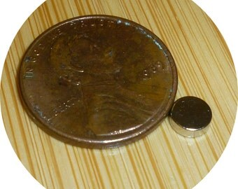 """300 Neodymium disc 3/16"""" inch X 1/16"""" rare earth magnets great crafts"""