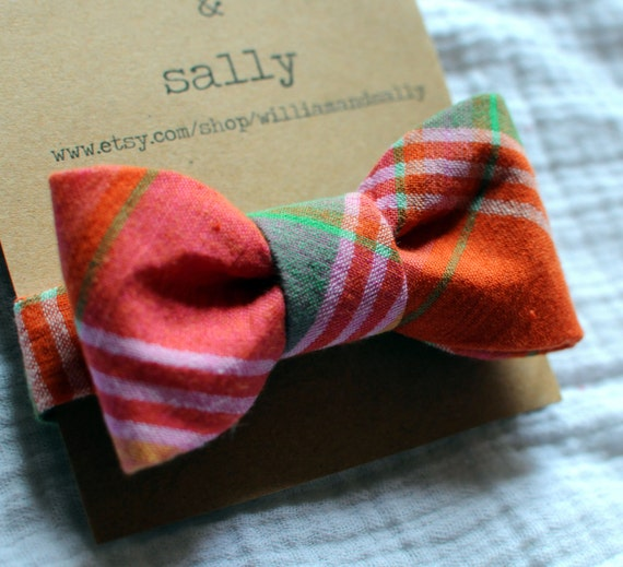 plaid toddler bow tie