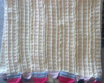 Handmade Crochet Pencil Blanket