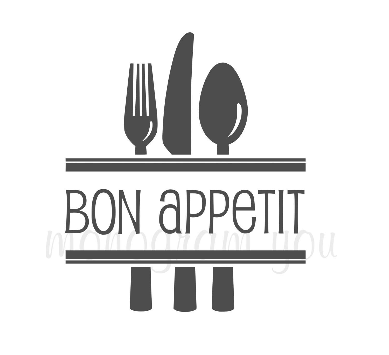 Bon Appetit Kitchen Wall Decal