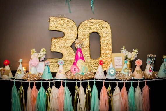 30th Birthday Party - Number 30 Giant Pinata in gold / Photo booth Props