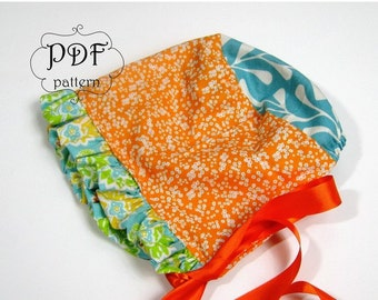 PDF Baby Bonnet Sewing Pattern for girls