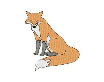 INSTANT DOWNLOAD Sly Red Fox Machine Embroidery Design