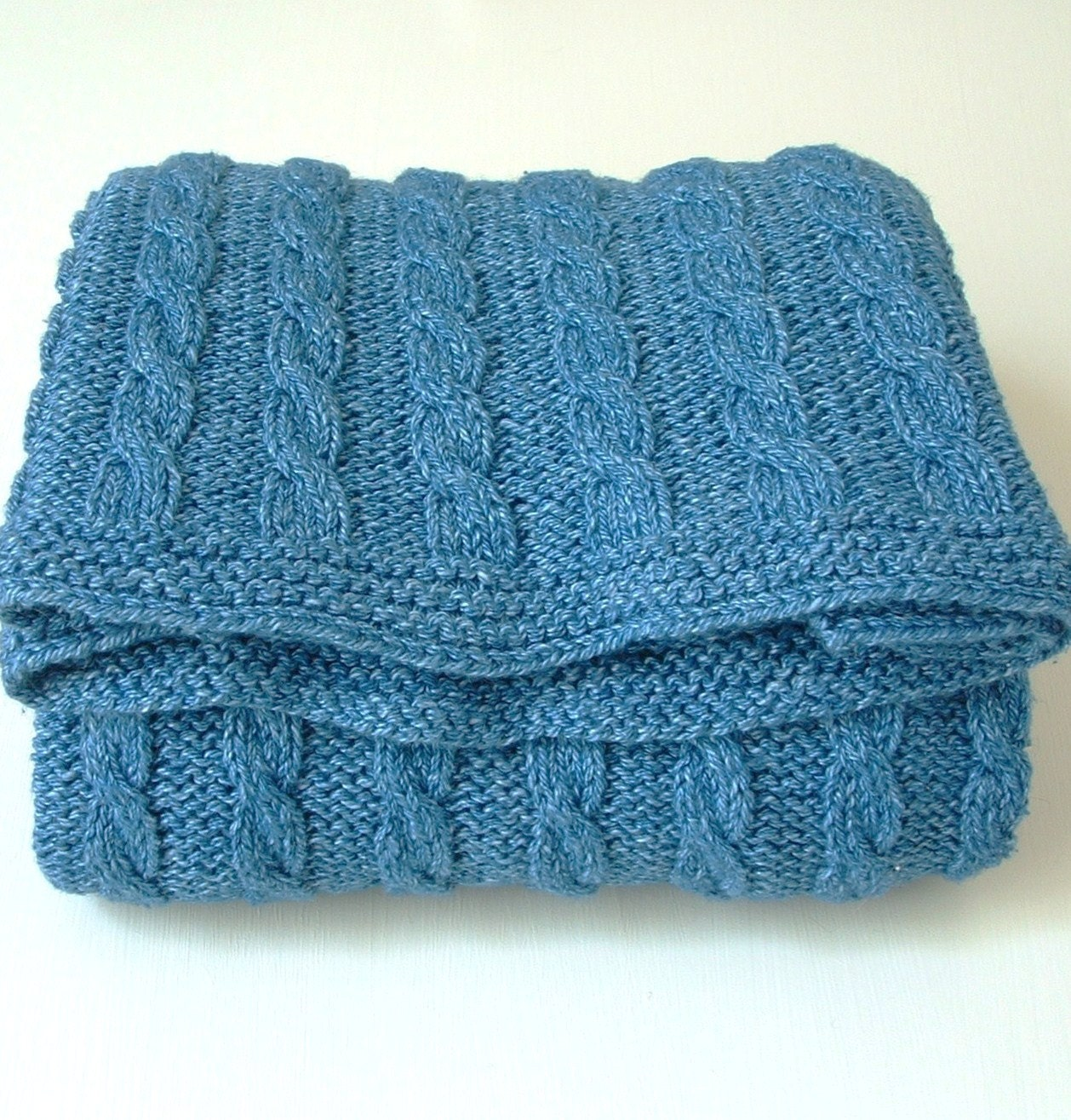 Cable Knit Throw Pattern : KNITTING PATTERNS baby blanket classic cable blanket