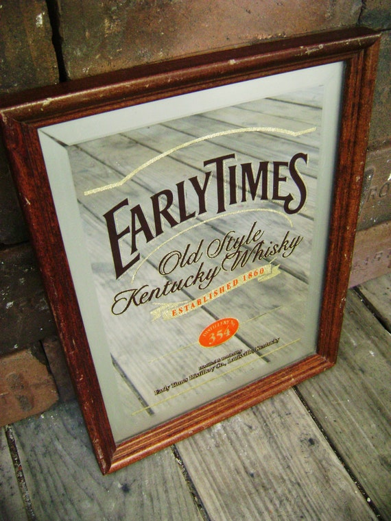 Vintage Early Times Whiskey Bar Mirror