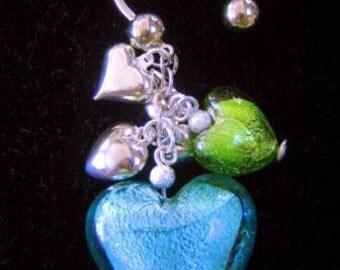 U shaped Key ring with assorted glamorous beads