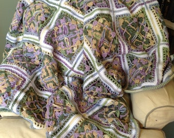 Not Your Granny's Squares Patchwork Crochet Acrylic Blanket