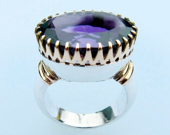 Ring with Amethyst, Size 7.5