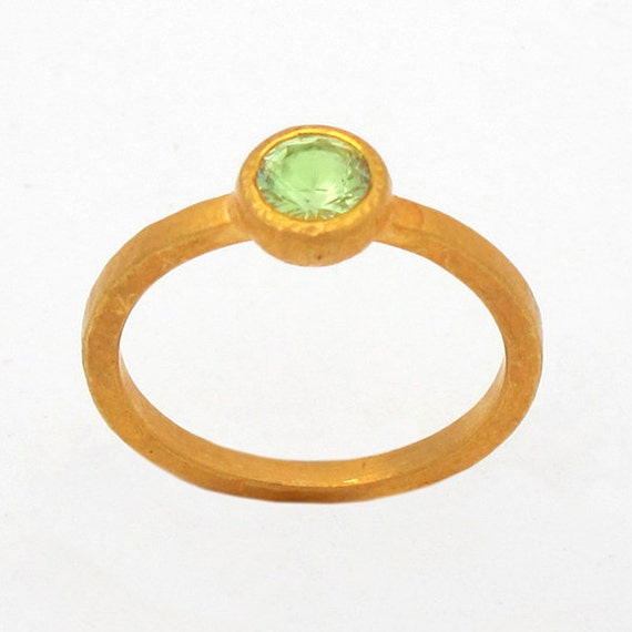Ring with Vesuvianite, Size 6.75