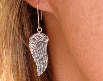 Large Angel wings hook Earrings