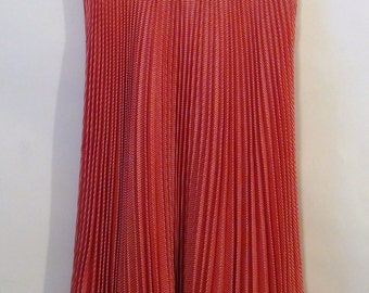 Vintage Red and White Houndstooth Pleated Skirt S