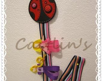Hairclips Holder - Ladybug (Children/ Girls/ Handmade Accessories)