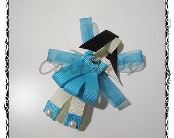 Fairies (Silvermist) Ribbon Sculpture Alligator Hairclip (Tinkerbell/ Children/ Girls/ Handmade Accessories)