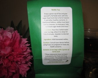 Nettle tea - You don't have to go to the wilds of the Amazon for a superfood, nettles are an amazing source of vitamins!