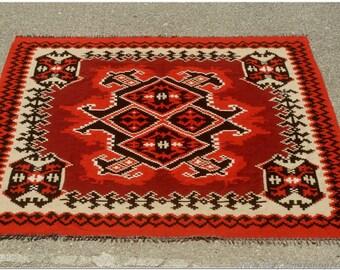 Vintage Hand Woven Oriental Turkish Kilim Rug Home Decor