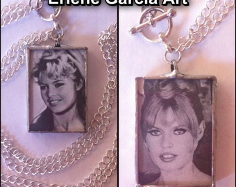 Bridget Bardot Soldered Pendant Necklace