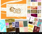 100 digital Papers / Textures DVD Pack with 9 Photoshop Actions