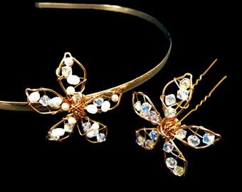Mini Charlotte Flower- Swarovski crystal flower band