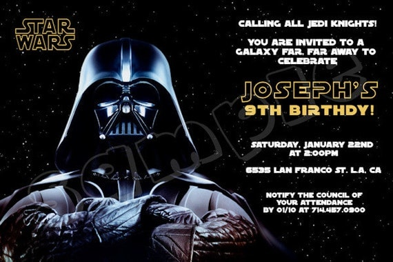 star wars star warsgeburtstagsparty von preciouspartyinvites. Black Bedroom Furniture Sets. Home Design Ideas