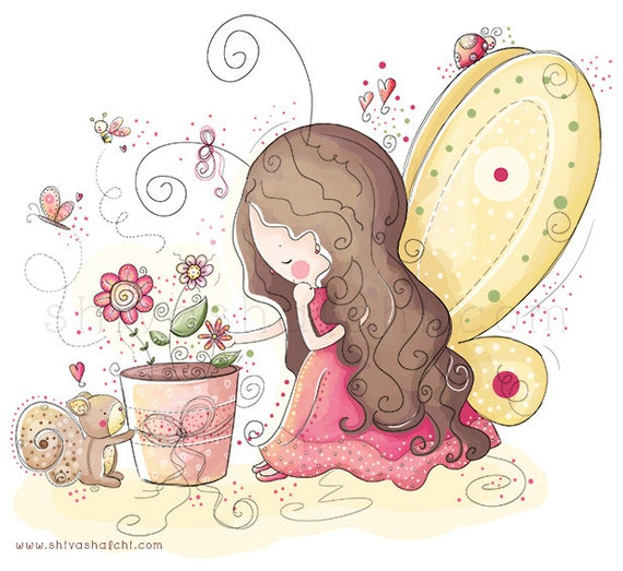 Children Illustration - Garden Fairy