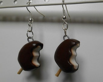 Earrings Vanilla chocolate ice cream