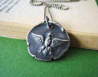 American Eagle wax seal necklace