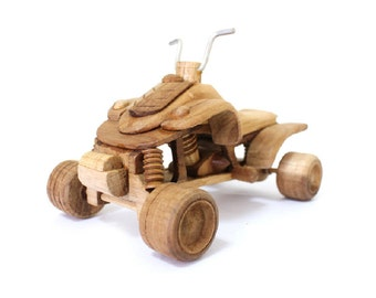 Wooden Toy ATV Car in Handmade