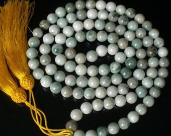 Tibet Natural Stone 10mm 108 Beads Beaded Buddhism Buddha Prayer Mala Necklace