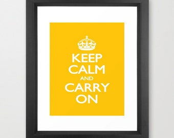 Instant Download Keep Calm And Carry On Wall Art Typography Downloadable Digital Print 8x10