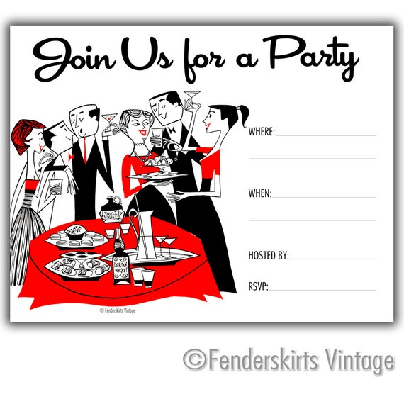 Retro 1950s Cocktail Society Party by FenderskirtsVintage ...