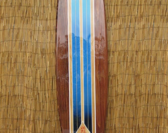 Decorative Wooden Surfboard Wall Art for a Hotel Restaurant