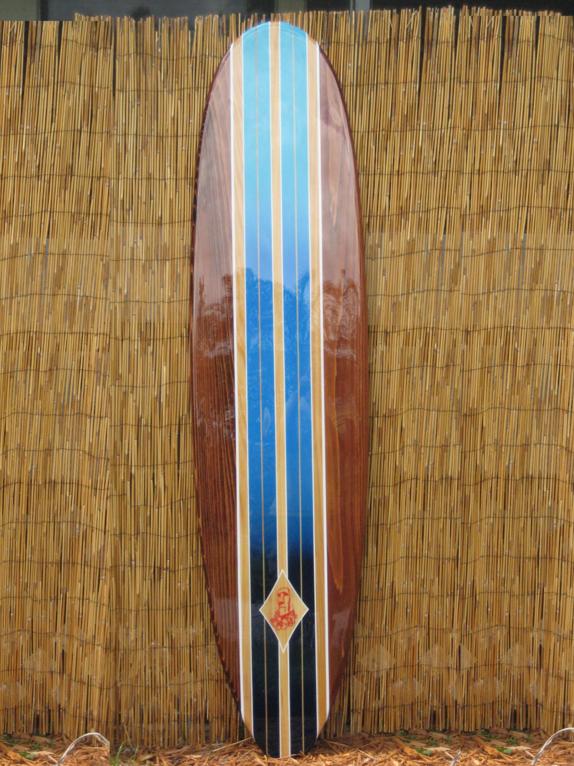 decorative wooden surfboard wall art for a hotel restaurant. Black Bedroom Furniture Sets. Home Design Ideas