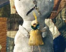 Primitive Rabbit Doll Pattern Easter  Spring Epattern Clay Chick  PDF Folk Art Folkart Hickety Pickety AS27