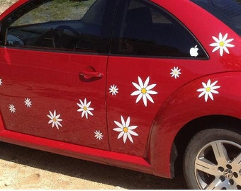 Daisy Flower Decal Stickers for Your Car or Wall by Tonyabug Sticker Momma (Q27)