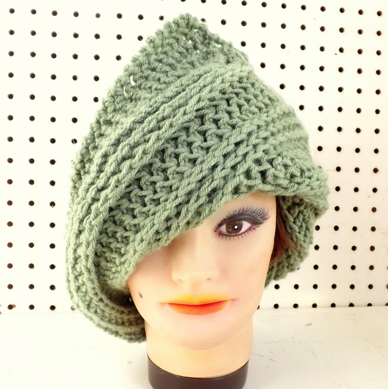 womens crochet hat womens hat steunk hat crochet beanie