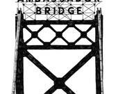 Ambassador Bridge, Detroit Giclee Print 8x10